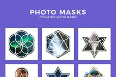 Geometric Photo Masks by QueenHandcrafts on @creativemarket