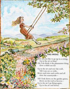 The Swing by Robert Louis Stevenson, illustrated by Tasha Tudor