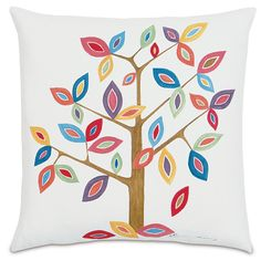 Andrea's Pick: Spruce up any couch or chair with the colorful Elizabeth Whimsical Tree Pillow