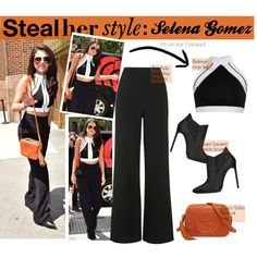 steal her style: selena gomez by georginamaybrown on Polyvore featuring Topshop, Yves Saint Laurent, Gucci and Balmain