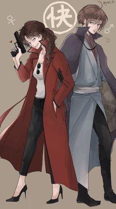 Tatsuma and Mutsu genderbend Anime One, Manga Anime, Sakamoto Tatsuma, Gintama Funny, Okikagu, Masked Man, Gender Bender, Hetalia, Cool Girl