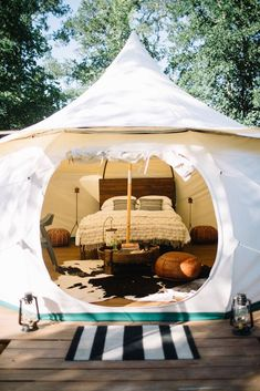You're gonna want to stay in this modern glamping tent.