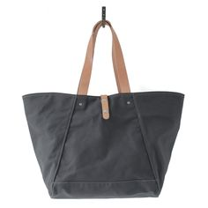Farm Tote Charcoal Canvas and Natural Horween® HS Leather