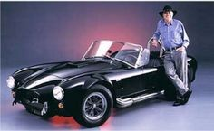 Muscle Cars Pictures  Carrol Shelby standing next to a Cobra  www.musclepricecars.com
