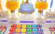Peace Party decoration idea | Handspire [Spanish page content]