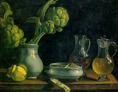 Jean Valette-Falgores Still Life with Artichokes 18th century