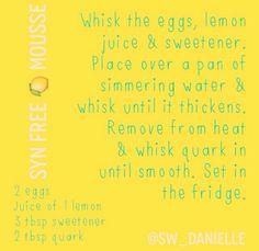 Syn free lemon mousse