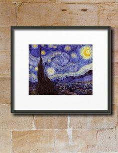 Starry Night by Vincent Van Gogh Framed Print