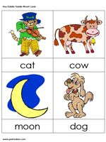 Nursery rhyme cards in color to print out and use as suggested on this FABULOUS website or design your own activity.