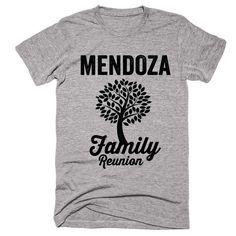 MENDOZA Family Name Reunion Gathering Surname T Shirt