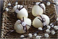 Set of 4 Easter eggs, Easter eggs, Easter decor, Easter eggs ornaments, Spring ornament Easter Egg Crafts, Easter Eggs, Oster Dekor, Egg Tree, Basket Crafts, Diy Ostern, Chicken Art, Easter Tree, Egg Decorating