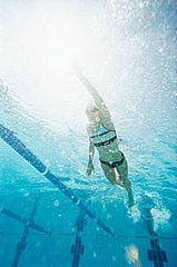 Where to Start: From Zero to a Mile Swim Plan for Newbies Although this says newbies, I find that you can start at any week that is challenging, but not too painful. I find swimming can be either a challenging cardio workout or a good recovery day workout-it all depends on what you put into it :)