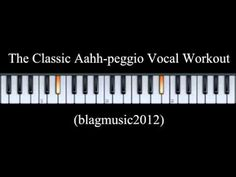 The Classic Aahh-peggio Vocal Workout for Singing Lessons - YouTube