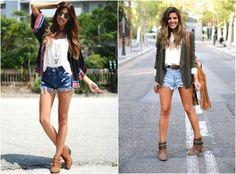 como usar bota curta com short jeans