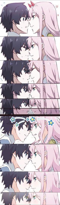 Anime Couples Drawings, Anime Couples Manga, Cute Anime Couples, Chica Anime Manga, Otaku Anime, Anime Chibi, Cute Anime Pics, Anime Love, Querida No Franxx