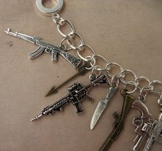 ZOMBIE HUNTER Weapon Charm Bracelet For The Zombie by PlayBox, £14.00