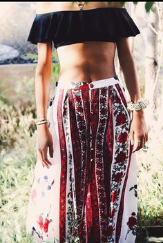Maxi skirt, swim top