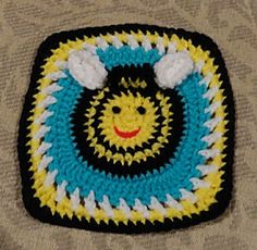 Bumble Bee Granny Square Motif By Lulu Bebeblu - Purchased Crochet Pattern - (ravelry)