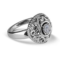Carolyn Pollack Genuine 925 Sterling Silver White Moonstone Birthstone Ring Size 7 >>> You can find out more details at the link of the image.Note:It is affiliate link to Amazon. #Jewelry