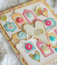 tiny tags with big heart - love it!
