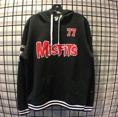 Gotta have you on my wall...and on my body // Misfits Red Logo Athletic Hoodie