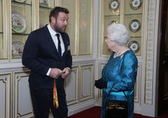 Queen Elizabeth II meets athletes at a reception for Team GB's 2016 Olympic and Paralympic teams at Buckingham Palace October 18, 2016 in London, England.