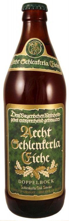 Cerveja Aecht Schlenkerla Eiche Doppelbock, estilo Other Smoked Beer, produzida por Brauerei Heller-Trum, Alemanha. 8% ABV de álcool.