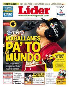 Magallanes Pa'to el Mundo | Mario Lissón encabezó la remontada del equipo turco para sentenciar la barrida sobre Caribes y asegurar al menos un juego extra | Es nuestra portada del 19 de enero