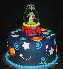 Solar system on pinterest solar system cake solar for Outer space cake design