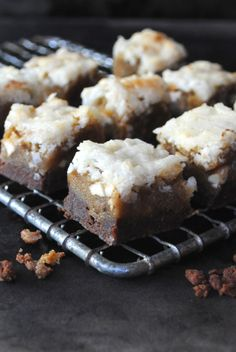 Chocolate Shortbread Blondies with Coconut Topping