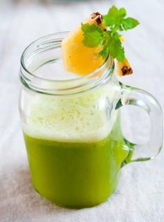 The Natural Pain Killer Juice. Say goodbye to aches and pain with this juice. Try this now! Ingredients: 1/2 Pineapple, 2 ribs celery, 1 head Romaine lettuce, handful of cilantro, thumb-sized ginger.