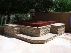 Idea for stone around the hot tub