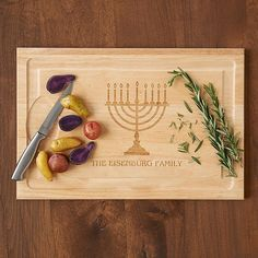Menorah Wood Cutting Board
