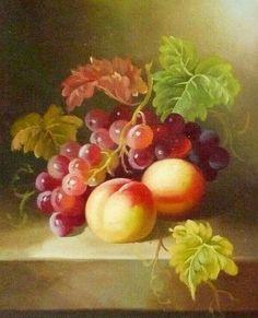 Nature ( still life) Fruit Painting, China Painting, Painting Still Life, Still Life Art, Painting Lessons, Painting & Drawing, Fruit Art, Small Art, Still Life Photography