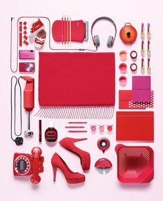 Victoria Ling es capaz de convertir sus fotografía en escaparate visual. Moda. Rojo.