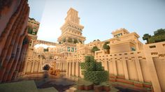 /r/minecraft: A Babylon inspired city ... *very cool*