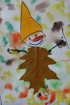 Draw a stick figure and let kids cover it in flowers, leaves, twigs, grass, seed. Draw a stick fig Fall Arts And Crafts, Autumn Crafts, Fall Crafts For Kids, Autumn Art, Nature Crafts, Diy For Kids, Autumn Leaves, 4th Grade Art, Leaf Crafts