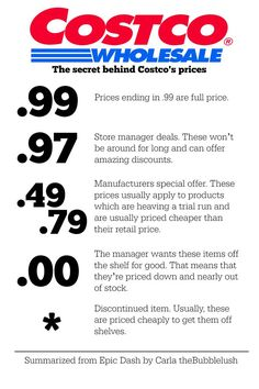 The secret behind Costco's prices. Tips for saving money and recognizing sales…