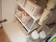 【100円ショップ収納術】ダイソー・セリアの商品を使った、洗面所の片付けテクニック - Latte