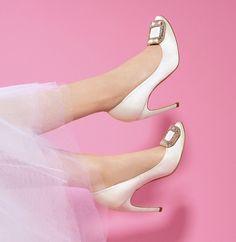 Zapatos de novia:Brillo y saten...