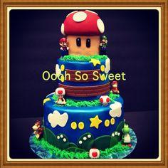 Mario 3 tier cakes