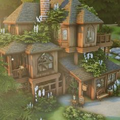Sims 4 House Plans, Sims 4 House Building, Minecraft Designs, Minecraft Houses, Sims 4 Bedroom, Sims 4 House Design, Casas The Sims 4, Sims 4 Build, Witch House