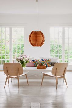 A lovely light, whimsical Swedish family home. Mokkasin.