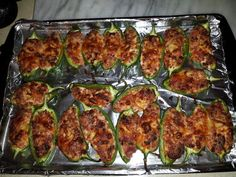 """Firehouse Stuffed Jalapeños - """"Must say they were excellent! The sausage made it! Get it at international markets."""" @allthecooks #recipe"""