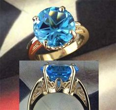 10mm Lone Star Cut Topaz Scroll Ring... YEP ... this is even better ... I want this one!!!!