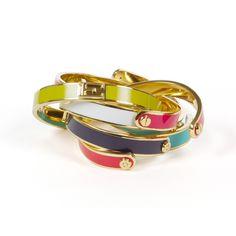 Enamel Initial Cuff Bracelets