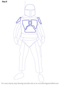 Learn How to Draw Boba Fett from Star Wars (Star Wars) Step by Step : Drawing Tutorials