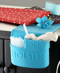 Hobby Holster by Craft Closet - silicone holster for hot glue gun -- smart