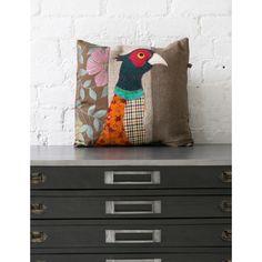 Pheasant Applique Cushion