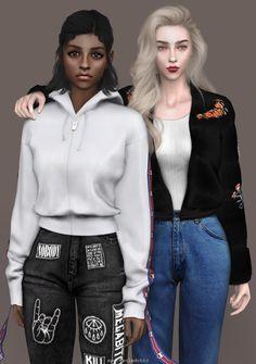 spectacledchic-sims4 — Lookbook # 16 featuring Ameena & Jesslyn Ameena...